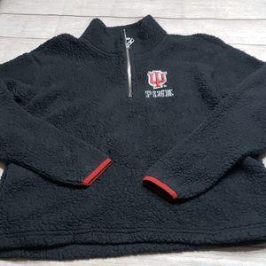 VS PINK Indiana University Sherpa Pullover Small